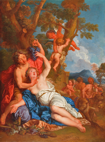 Bacchus and Ariadne on the Island of Naxos Oil on Canvas 59 x 44 1/4 in.