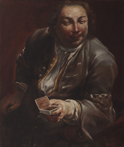Portrait of a Gentleman with Snuff  Oil on Canvas 31 7/8 x 27 1/4 in.
