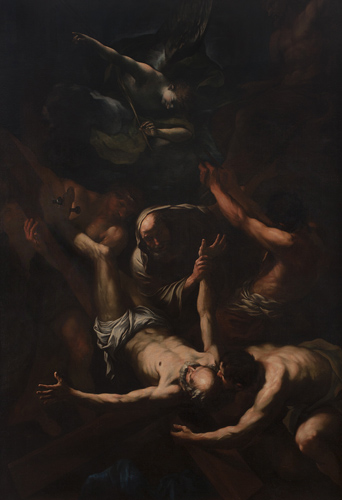 The Martyrdom of Saint Peter Oil on Canvas 114 1/2 x 76 inches