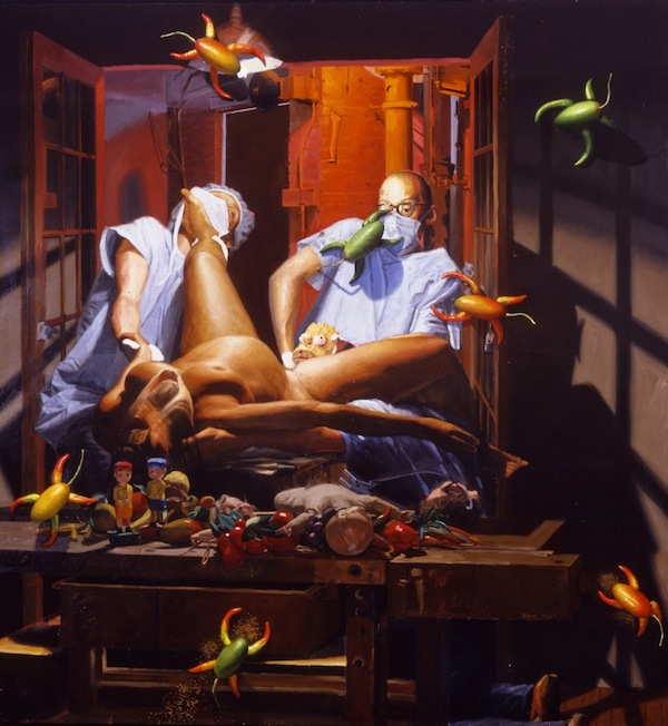 Birth of B-Art, 2004 Oil on Canvas 70 x 66 in.