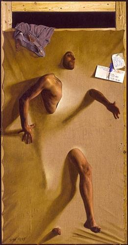 Emergence  , 2004   Oil on Canvas 80 x 41 in.