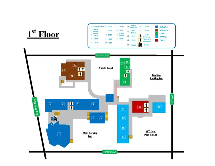 Kcc Campus Map CAMPUS MAP — KCC Kcc Campus Map