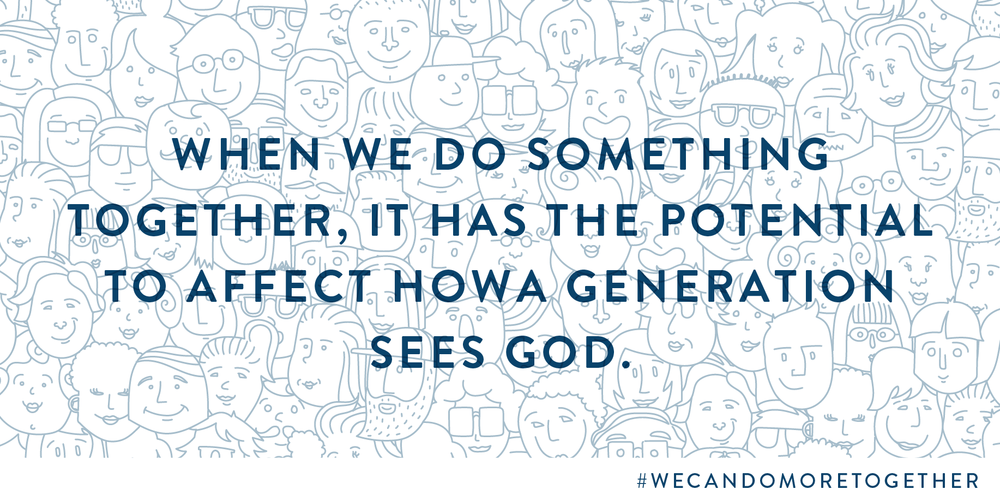 Will you join us in helping a generation see God? Will you join us in engaging the kids and students in our church?