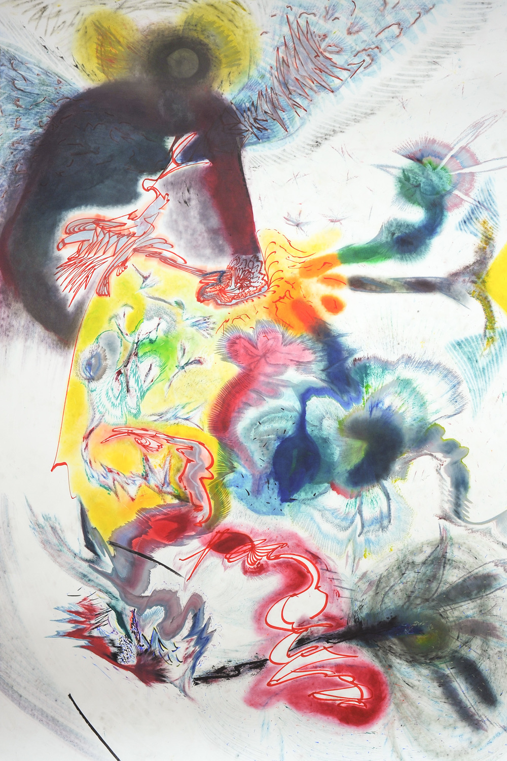 JAKUB MILČÁK  UNTITLED, 2015  MIXED MEDIA ON PAPER  72 x 108 IN  183 x 274 CM  5,000 GBP