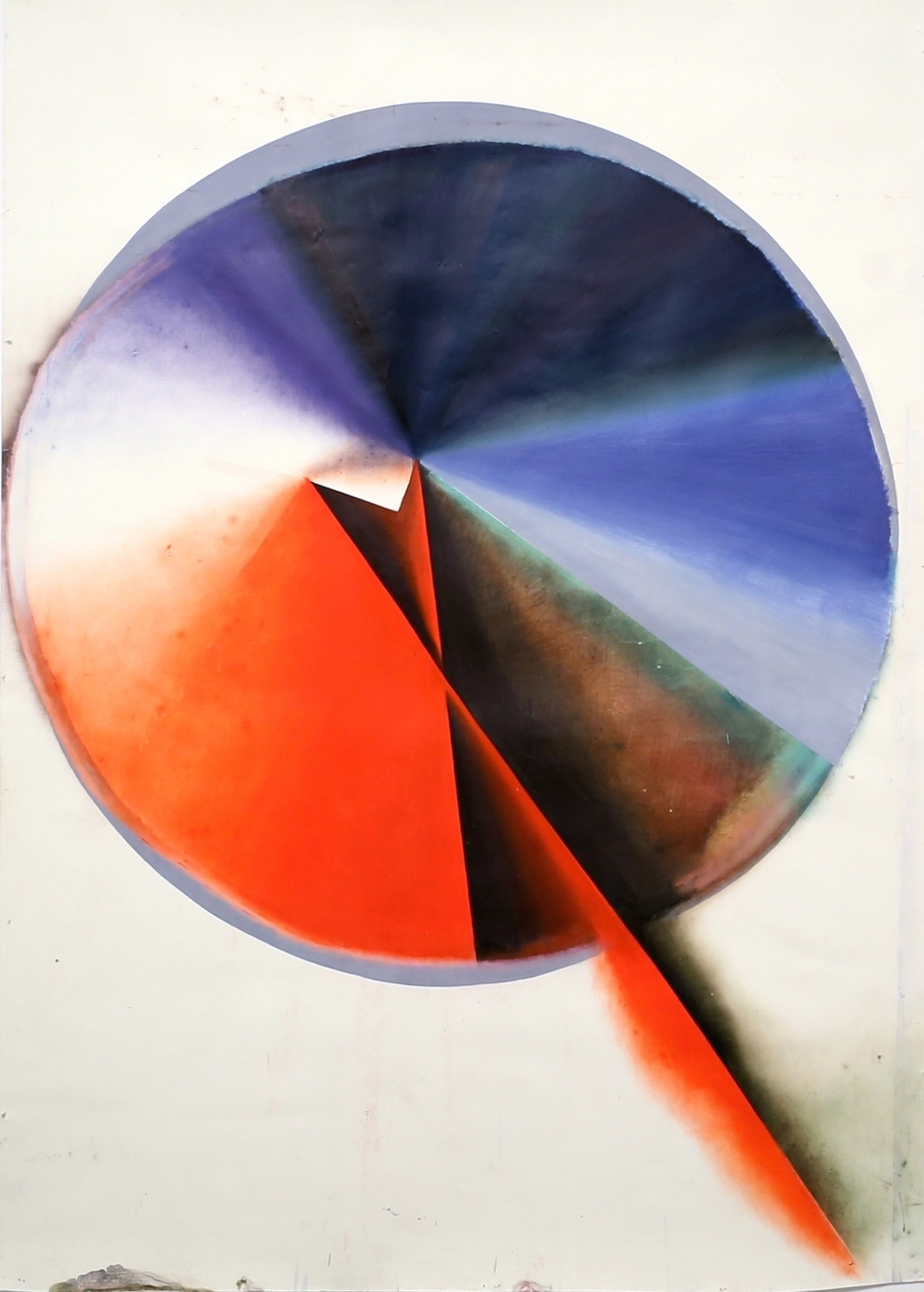 KERSTIN BRATSCH  MACHINE OF LIGHT, 2009  OIL ON PAPER  103 x 72 IN  262 x 183 CM  NFS