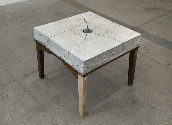 ADRIAN VILLAR ROJAS  UNTITLED, 2013 (TABLE)  CONCRETE, CLAY AND WOOD  19.5 X 24 X 24 IN  49.5 X 61 X 61 CM  GBP 50,000