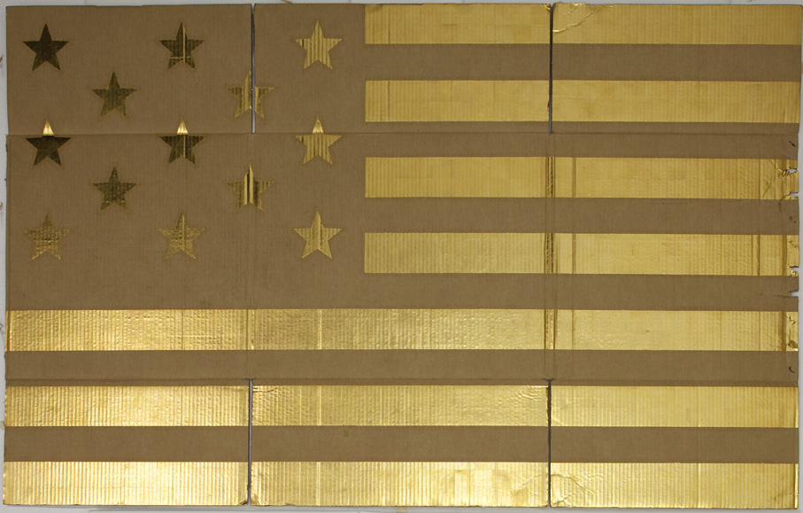 DANH VO  UNTITLED 2010  GOLD LEAF ON CARDBOARD  180 X 100 CM  COURTESY OF THE ARTIST