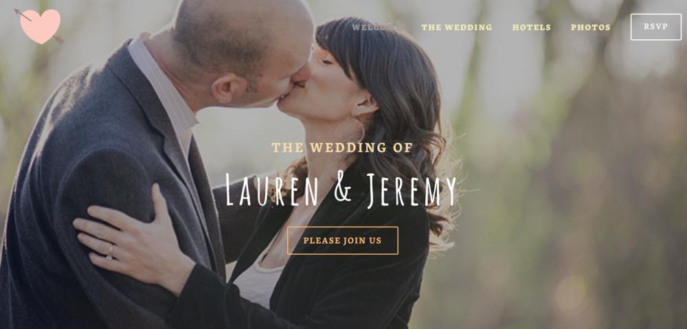 Lauren & Jeremy Wedding Website