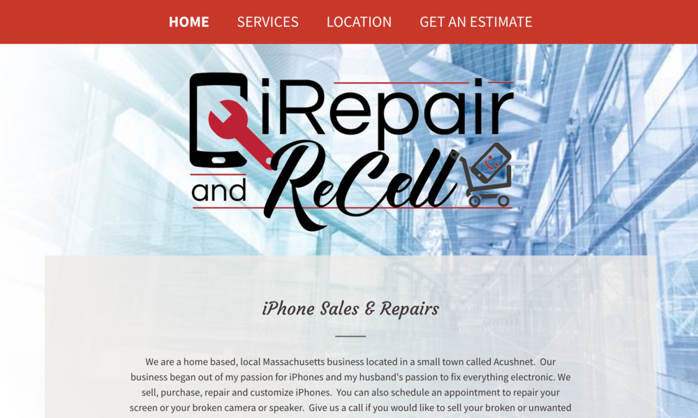 iRepair and ReCell - iRepair and ReCell is a small business phone repair company.  Visit them if you're phone has a broken screen or needs some repairs!