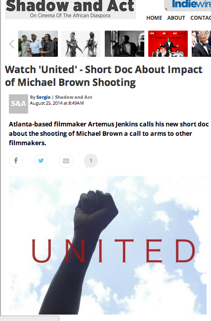 "Shadow and act feature for ""UNITED"""