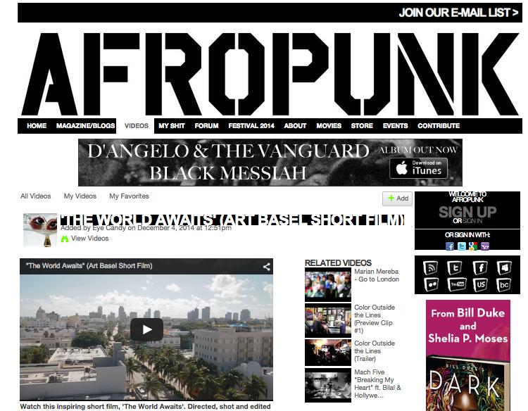 "AFROPUNK Feature for ""The world awaits"""