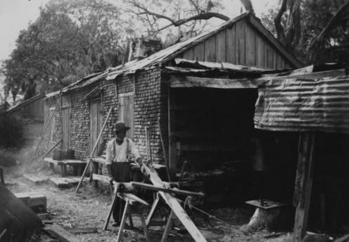 Slave shack, circa 1860
