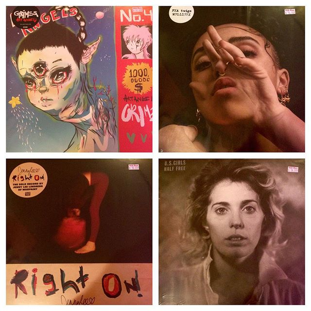 All these cool ladies just showed up.... #grimes #fkatwigs #jennylee  #usgirls .... The band. Many more too!!