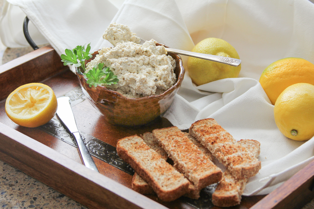 Tofu Ricotta with sprouted grain toast.