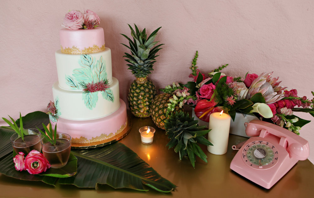 Pink and Green Wedding Cake.jpg