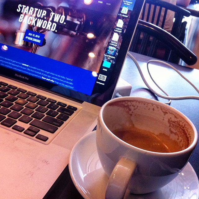 Working from Coffee Hound today. Eventually there will be something besides MacBook pictures on here #startup #yuccy #craftbeer #bluetapebrewing