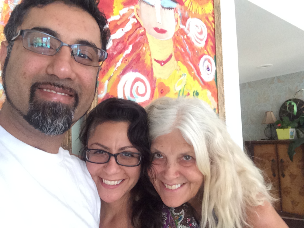 With Neil Gaur, Sol and the Goddess Heliana