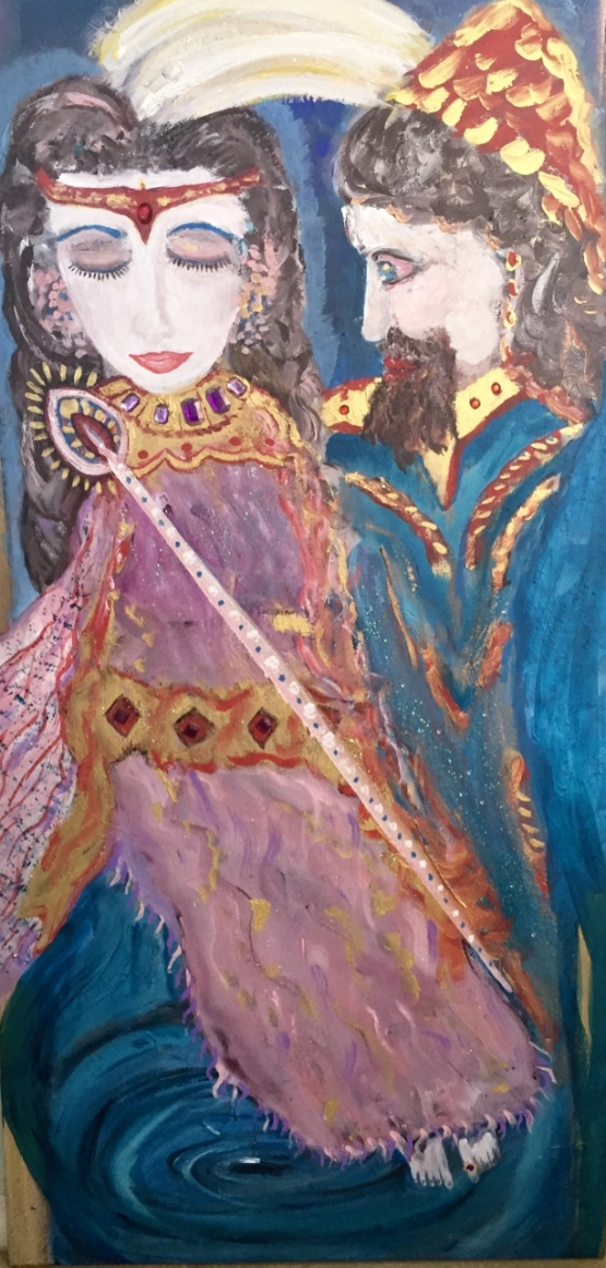THE ROYAL WEDDING     36x48         Mixed Media Acrylic                     $2200
