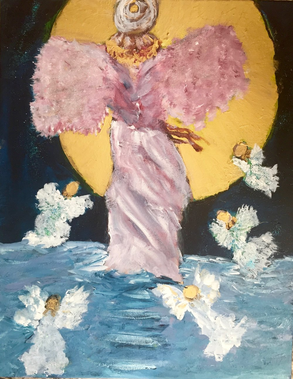 ANGEL OF THE ELOHIM 16 X 20                 Mixed Media on Canvas                    $388