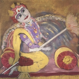KRISHNA          36X36         Mixed Media Acrylic      $3300