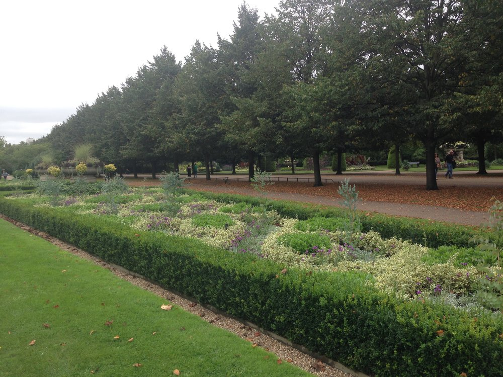English Gardens at Regents Park in London