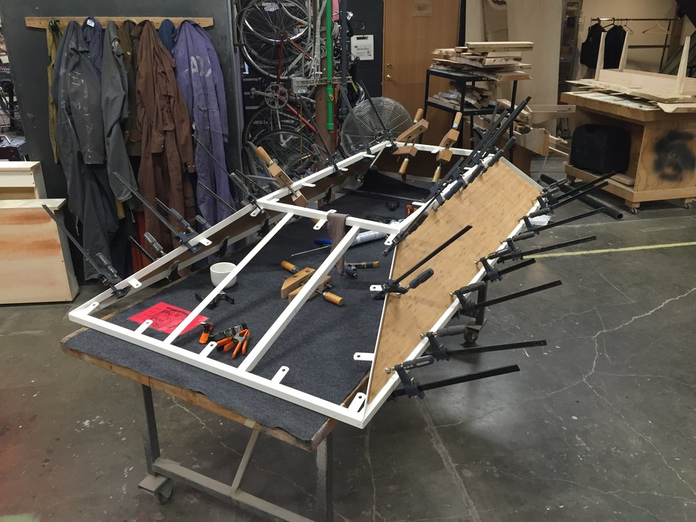 Top frame and an abundance of clamps