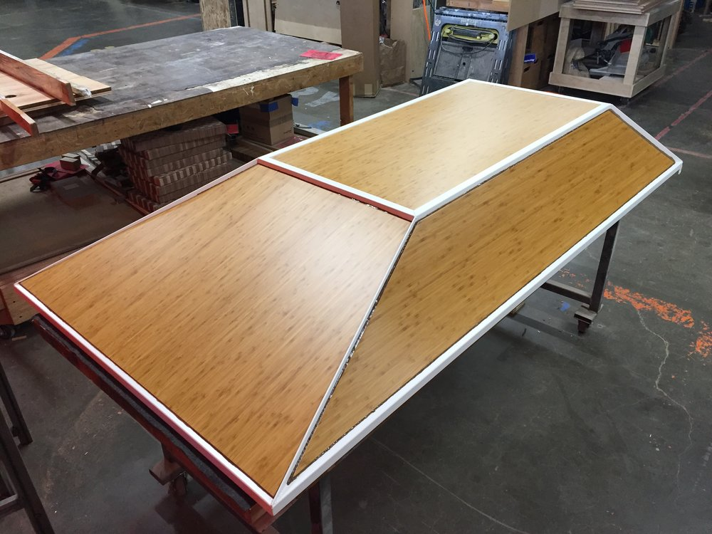 Thickened epoxy sealing panels to frame