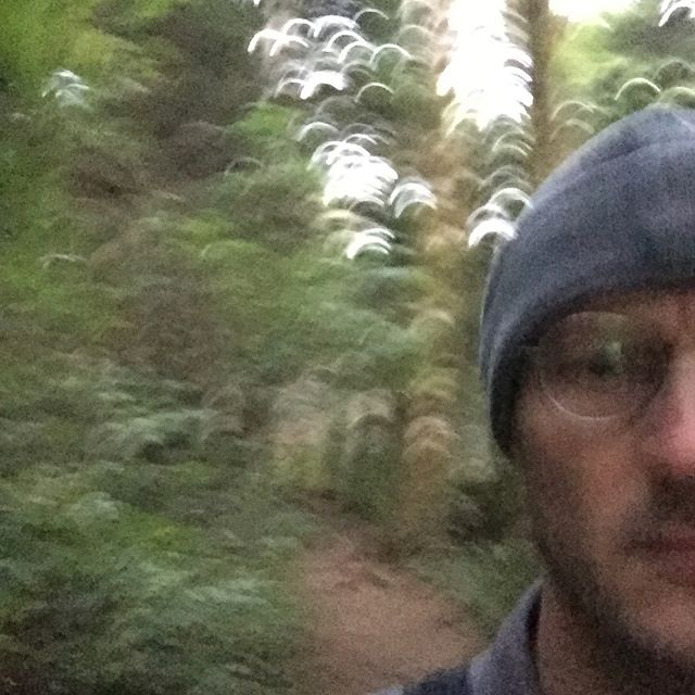Loping down a hill. . . . #hiking #oregoncoast #outoffocus