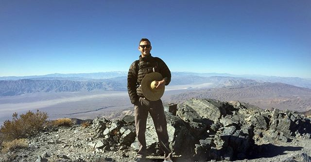 Up high in #deathvalley
