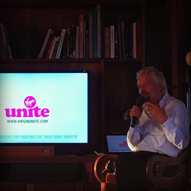 Feeling beyond #inspired by the incredible @richardbranson talking about #entrepreneur #change #makers - great to be surrounded by so many #businessforgood #neckerisland