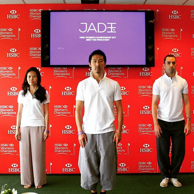 Simon, a Tai Chi expert and his charismatic team guiding our #HSBC JADE clients through a transformative and engaging session at the #hsbc #womens #championship #2017 #fringeactivities