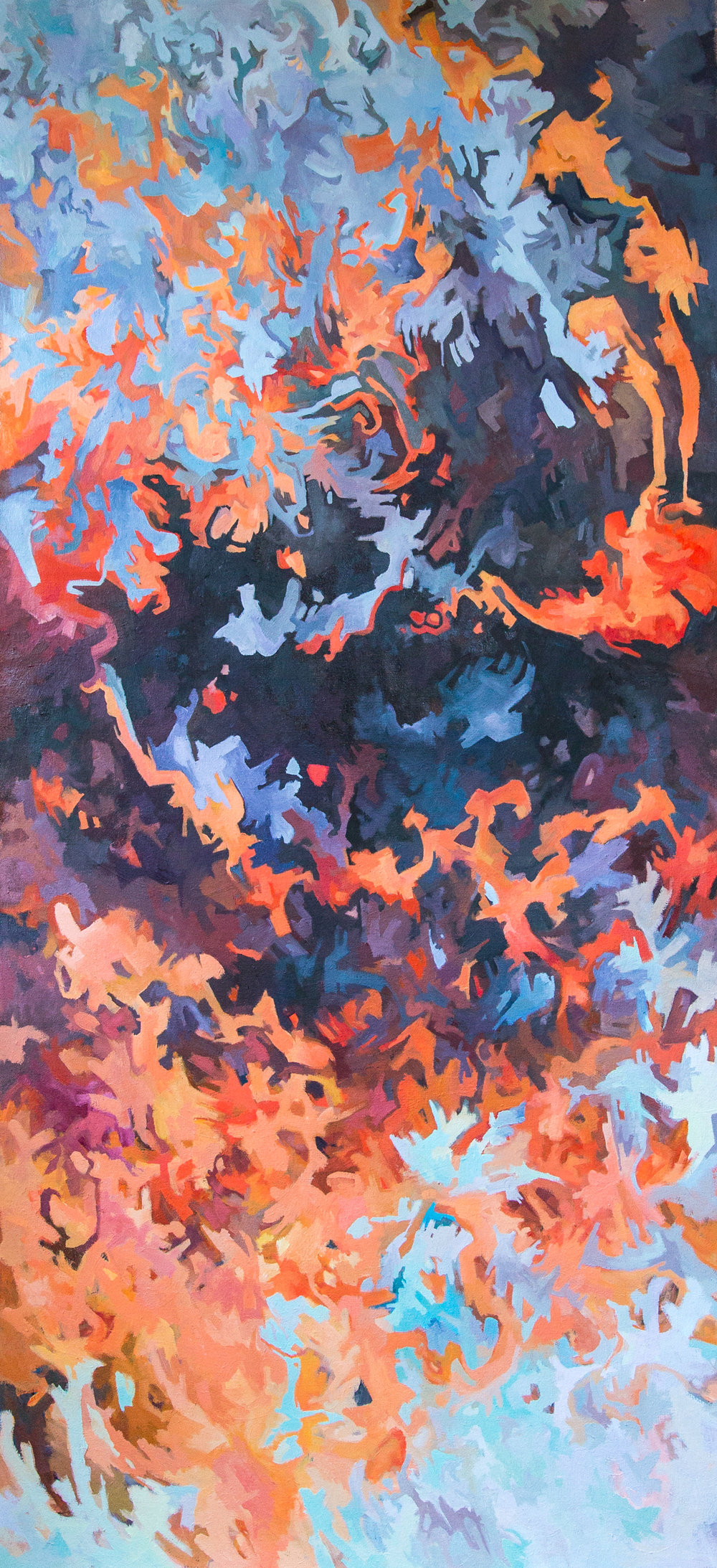 The Ultraviolet Catastrophe, 2018, oil on canvas, 60 x 28 inches