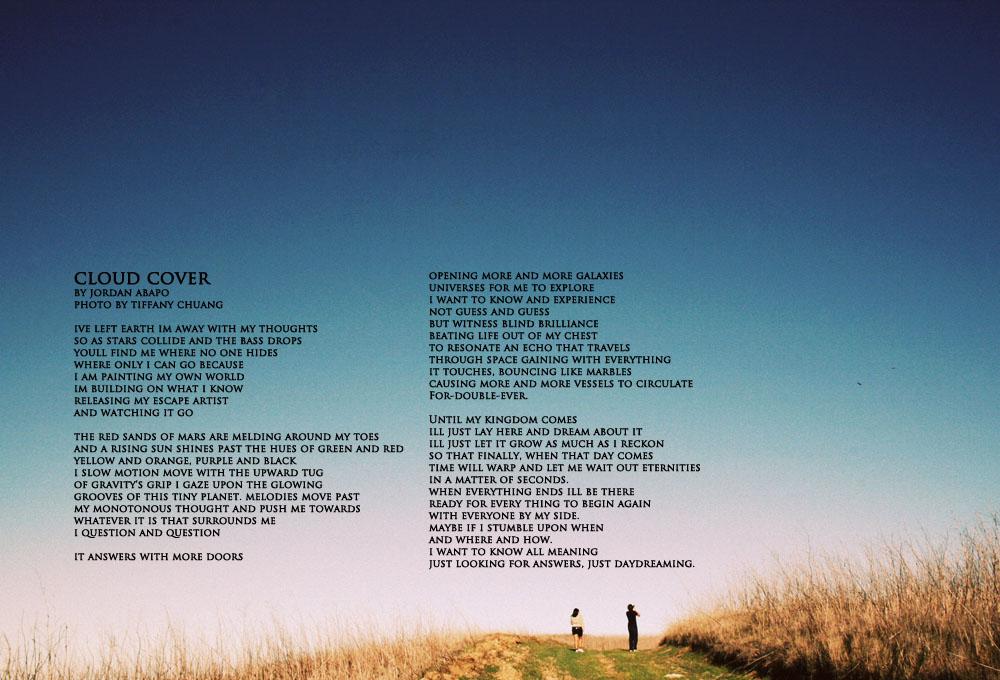"""CLOUD COVER"" BY JORDAN ABAPO | PH. BY TIFFANY CHUANG"