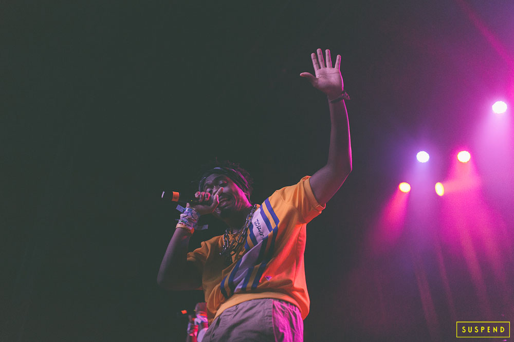 "EARTHGANG PERFORMING LIVE AT AB-SOUL'S ""THESE DAYS TOUR"" LIVE AT THE FONDA THEATRE (10.28.14) / PHOTO © KAYLA REEFER, SUSPENDMAG.COM"