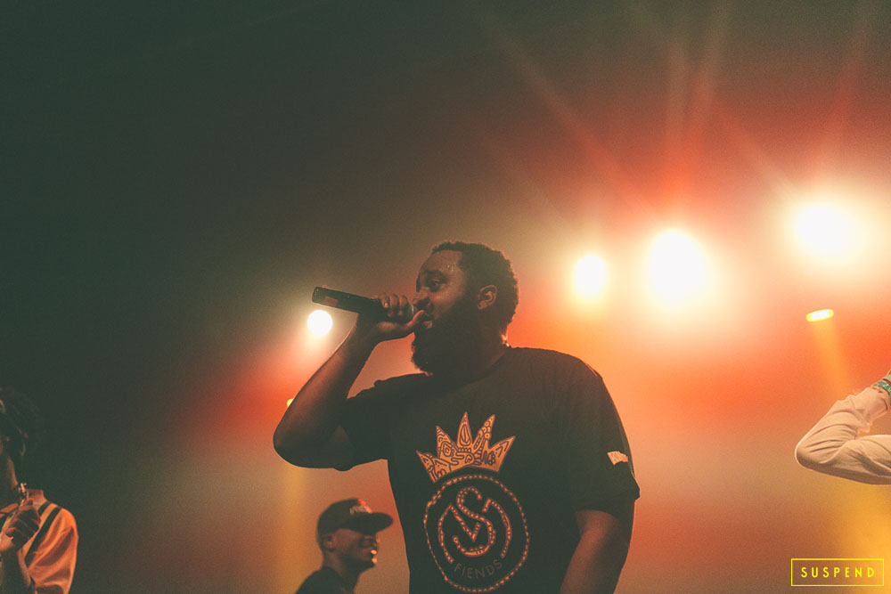 """BAS"" of J.Cole's Dreamville Records PERFORMING LIVE AT AB-SOUL'S ""THESE DAYS TOUR"" LIVE AT THE FONDA THEATRE (10.28.14) / PHOTO © KAYLA REEFER, SUSPENDMAG.COM"