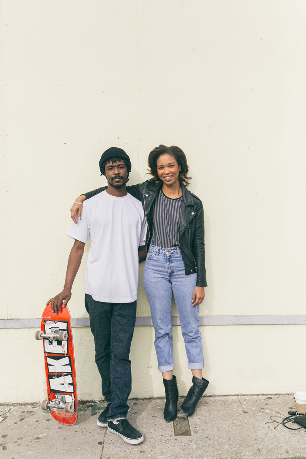 Jahmai Lumpkin, braid expert, photographed on Fairfax Avenue with Jay Ughh of Chill Black Guys / Photo:  Kayla Reefer, SUSPEND Magazine.