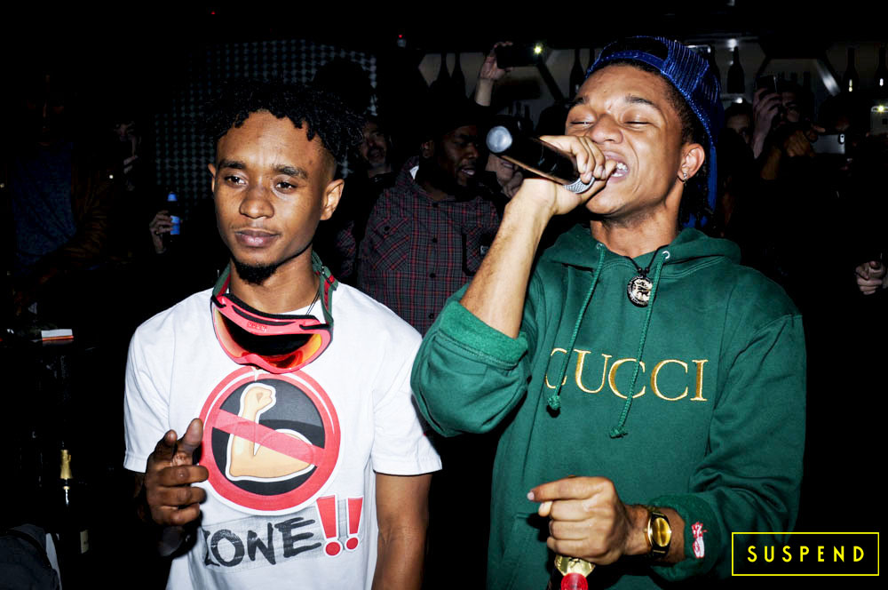 Rae Sremmurd perform at their listening party for 'Sremmlife' in L.A. / Photo: Richard Brooks, SUSPENDMAG.com