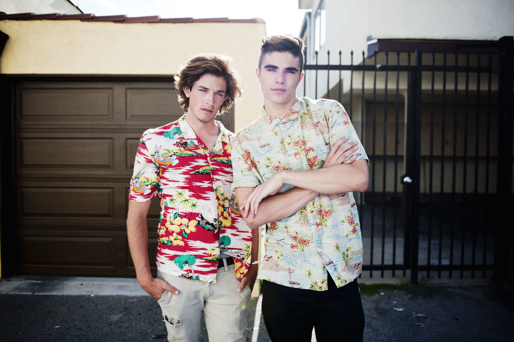 Jacob Crumbley & Diego Villarreal wearing vintage shirts from Tried & True Co. Photo: Diane Abapo / SUSPEND Magazine.