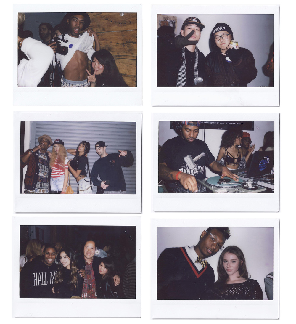 Polaroids by Stacy Kim at the ISSUE 04 release party, Los Angeles, Calif.