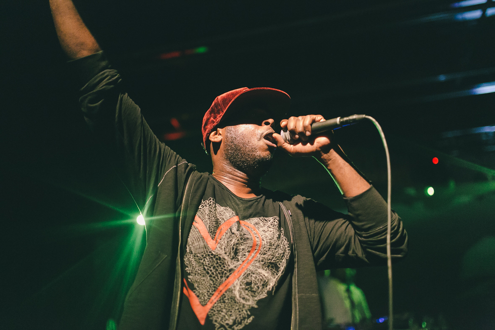 Talib Kweli performing in Wyoming. Photo: Kayla Reefer.