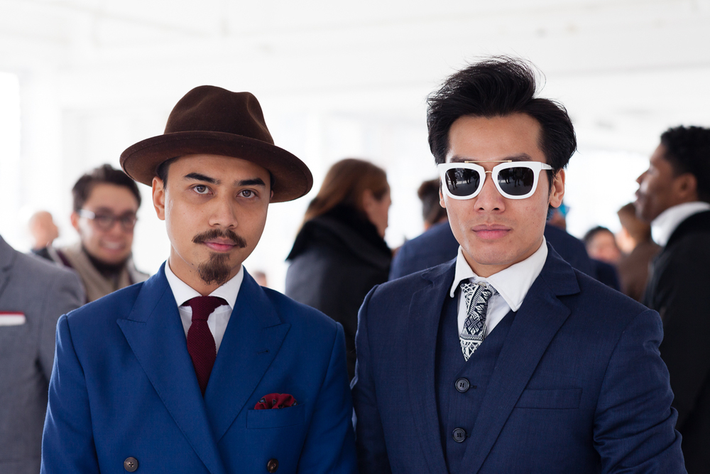 Attendees at the Darkoh F/W '15 Menswear   NYFW show (New York) / Photo: Feather Weight.