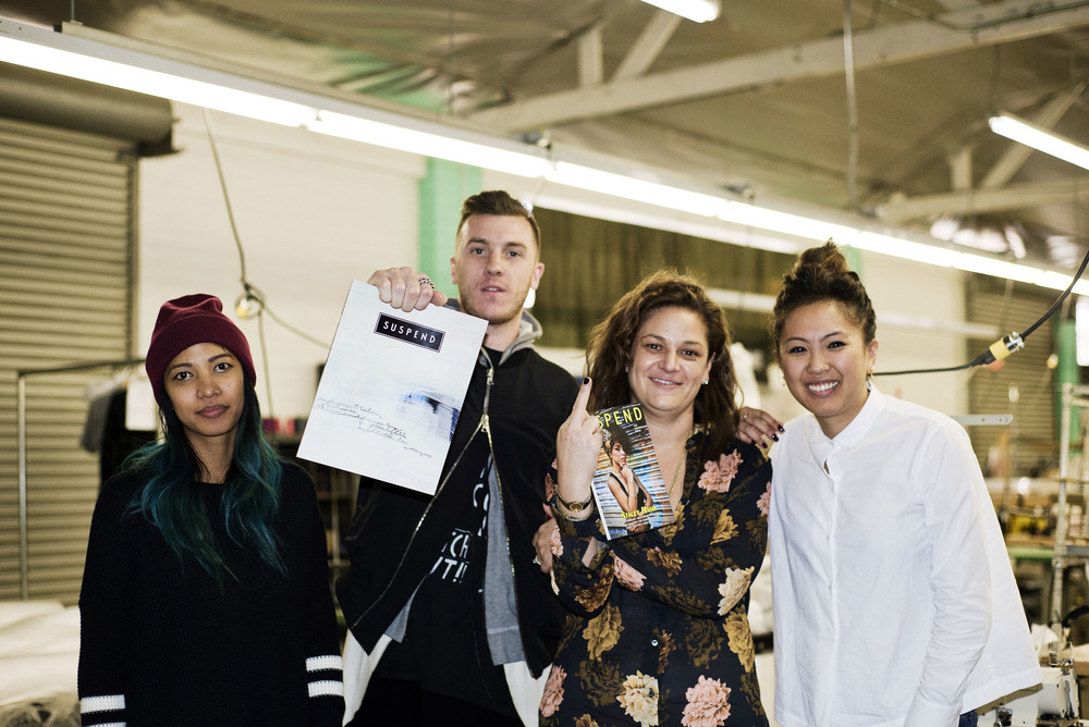 (L-R): Fashion editor Leslie Corpuz, assistant production coordinator at Fit&Supply Kolby Harwood, Courtney Ogilvie, and Editor-in-chief Diane Abapo.