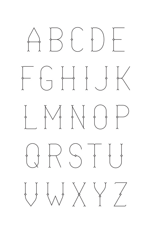 UNTITLED typeface and design by Justin Ward.