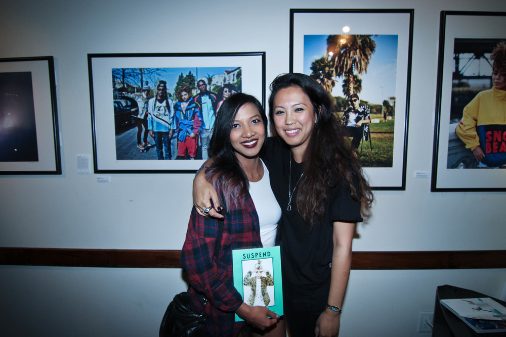 Fashion Editor, Leslie Corpuz, with Diane Abapo (EIC) of SUSPEND. / Photo: © Christy J Kim