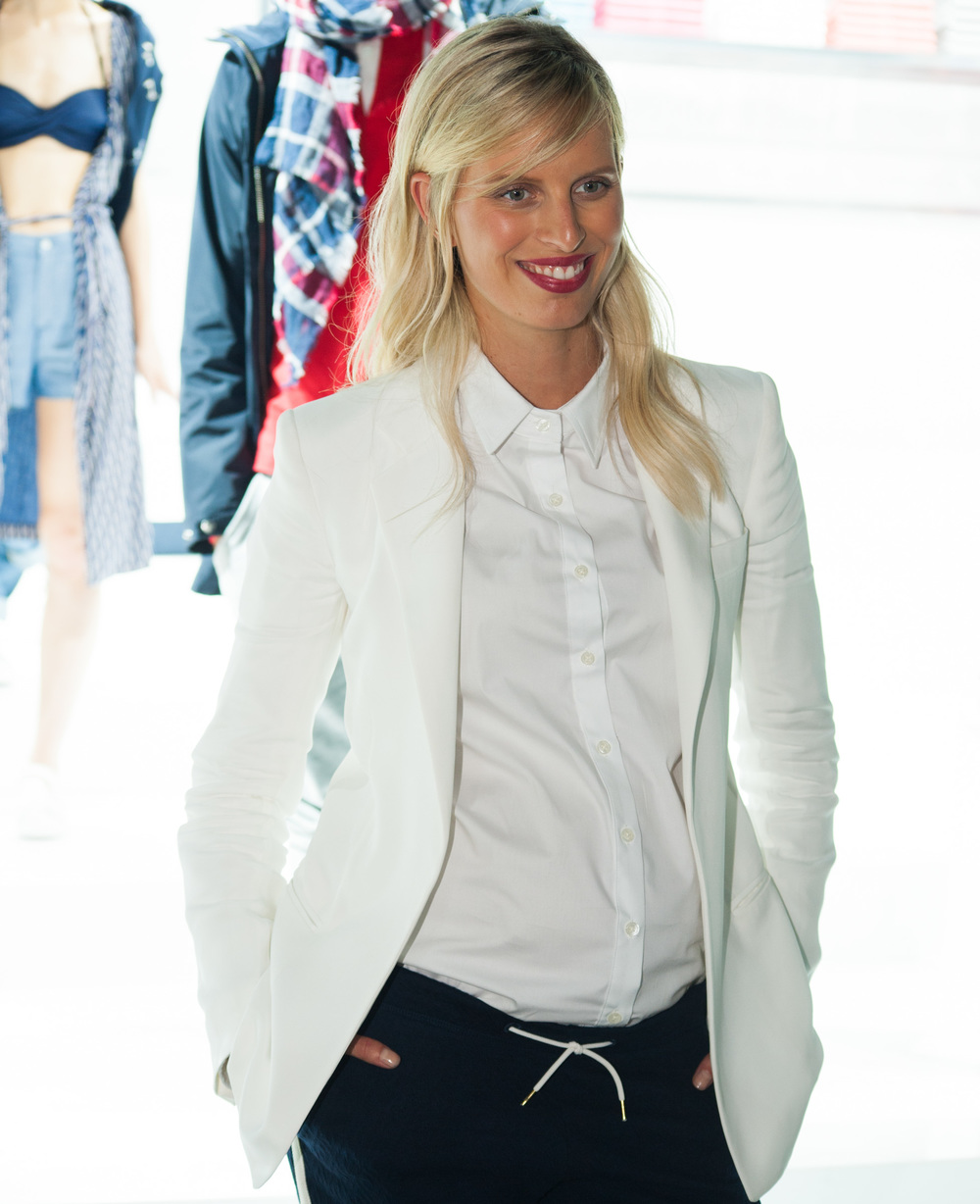Karolina Kurkova at GANT SS16 at NYFW / Photo: © Nate Margolis