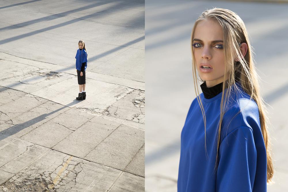 Shirt: Carlos Roman  Blue Shirt: Hector Hdz  Skirt: Maria Vogel  Shoes: Cinthia Rague