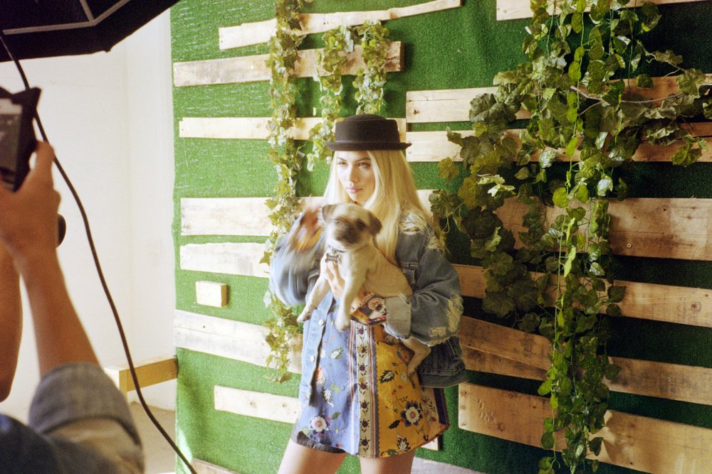 Hayley Kiyoko on the set of her cover shoot for ISSUE 05 of SUSPEND. / Photo: © Diane Abapo