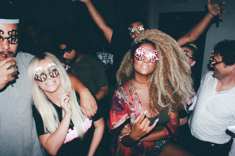 "Aubrey O'Day and artist Candice Pillay at Candice's ""The High"" EP release. / Photo: © Emil Ravelo for SUSPEND Magazine"