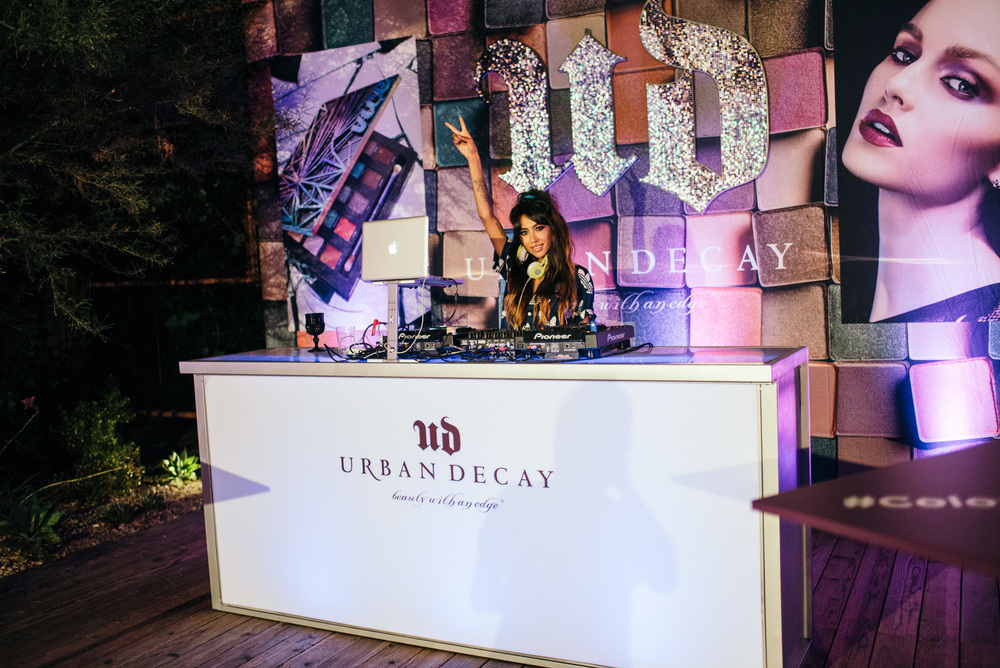 DJ Alie Layus at the launch of Urban Decay's VICE4 eyeshadow palette (Sept 29). / Photo © Diane Abapo for SUSPEND Magazine.