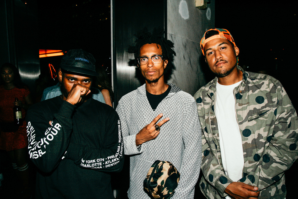 Kurtis Asberry of DOPE Fairfax (middle) at #NIGHTSWIMDTLA (Oct 1) presented by SUSPEND Magazine, HLZ BLZ, DOPE Fairfax, Ladies First Events, and LOVE+MADE. / Photo: © Jonathan Tate for SUSPEND Magazine